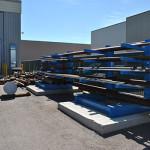 material racks in the Calgary yard at silverado oil tools